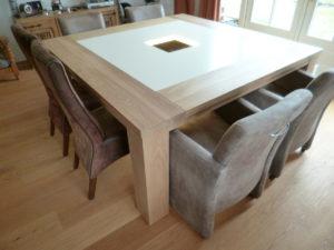 Eettafel met glasplaat