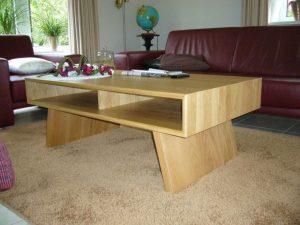 Massief eiken moderne salontafel