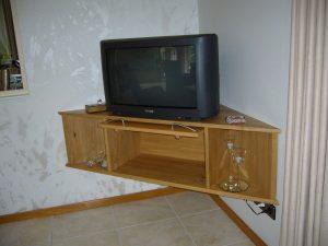 Massief eiken moderne tvkast voor in de hoek